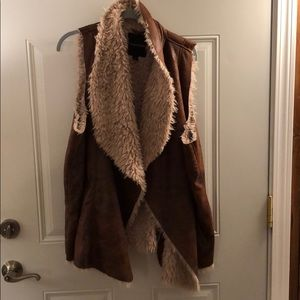 Maurices Jackets & Coats - Maurice's faux fur lined vest. Like new.